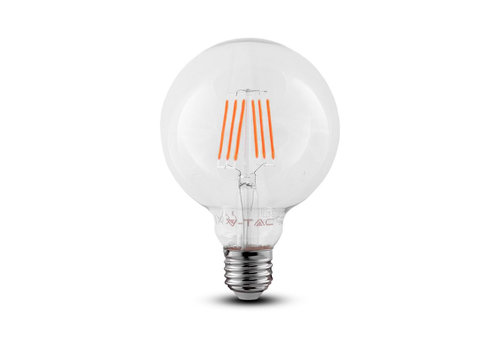 V-TAC LED Filament lamp 6 Watt E27 2700K Samsung