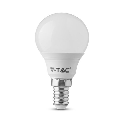 V-TAC LED Bulb with Samsung chip 7 Watt E14 P45 Plastic 6400K