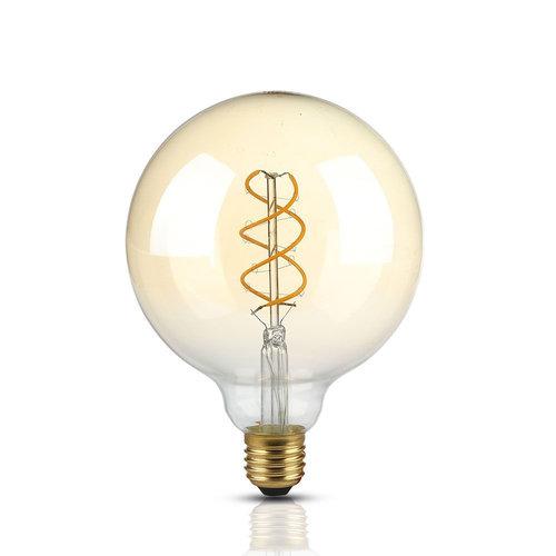 V-TAC LED Lamp Amber glas met gloeidraad 5 Watt E27 G15 2200K dimbaar
