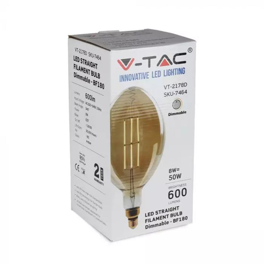 LED Filament lamp XXL Bora 8 Watt E27 2000K dimbaar