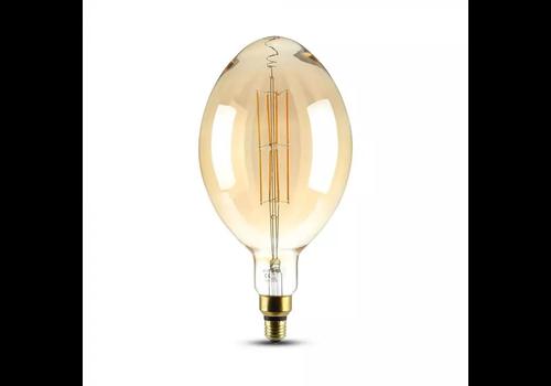 V-TAC LED Bulb Amber straight bulb 8 Watt E27 2000K dimmable