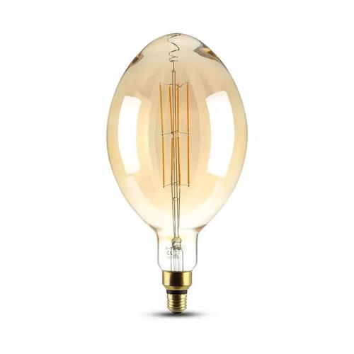 V-TAC LED Lamp Amber rechte gloeilamp 8 Watt E27 2000K dimbaar