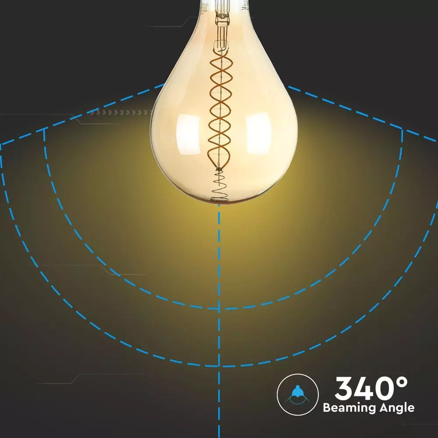 LED Filament lamp XXL Bainet 8 Watt E27 2000K dimbaar
