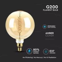 LED Filament lamp XXL Loiza 8 Watt gloeidraad 8 Watt E27 2000K dimbaar