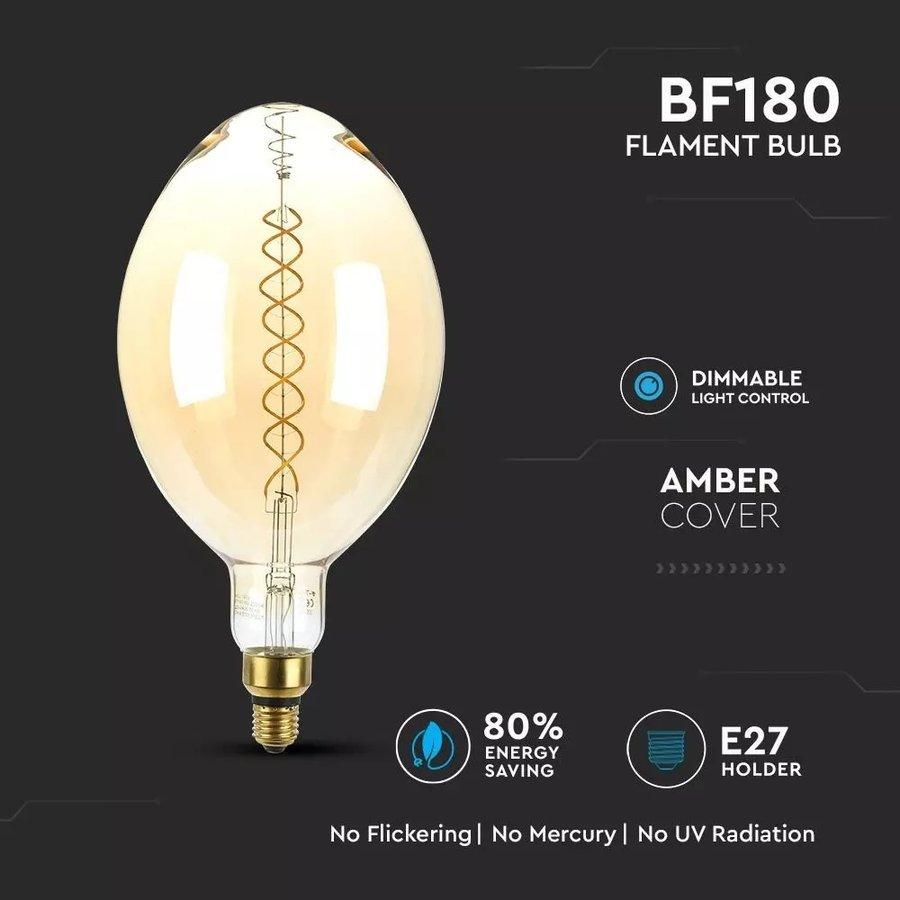 LED Filament lamp XXL Sydney dubbele gloeidraad 8 Watt E27 2000K dimbaar