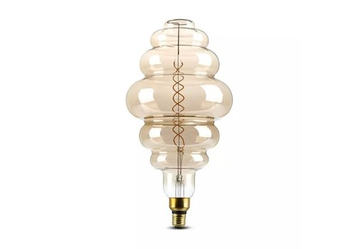 V-TAC LED Bulb Smoky double filament 8 Watt E27 2000K dimmable