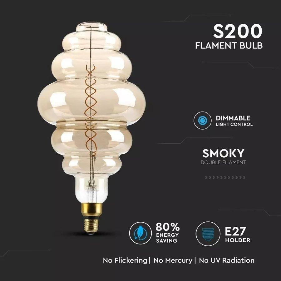 LED Filament lamp XXL Paris Dubbele gloeidraad 8 Watt E27 2000K dimbaar
