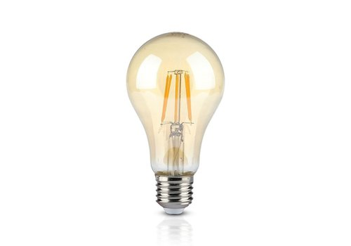 V-TAC LED Bulb Amber glass 8 Watt E27 A67 2200K