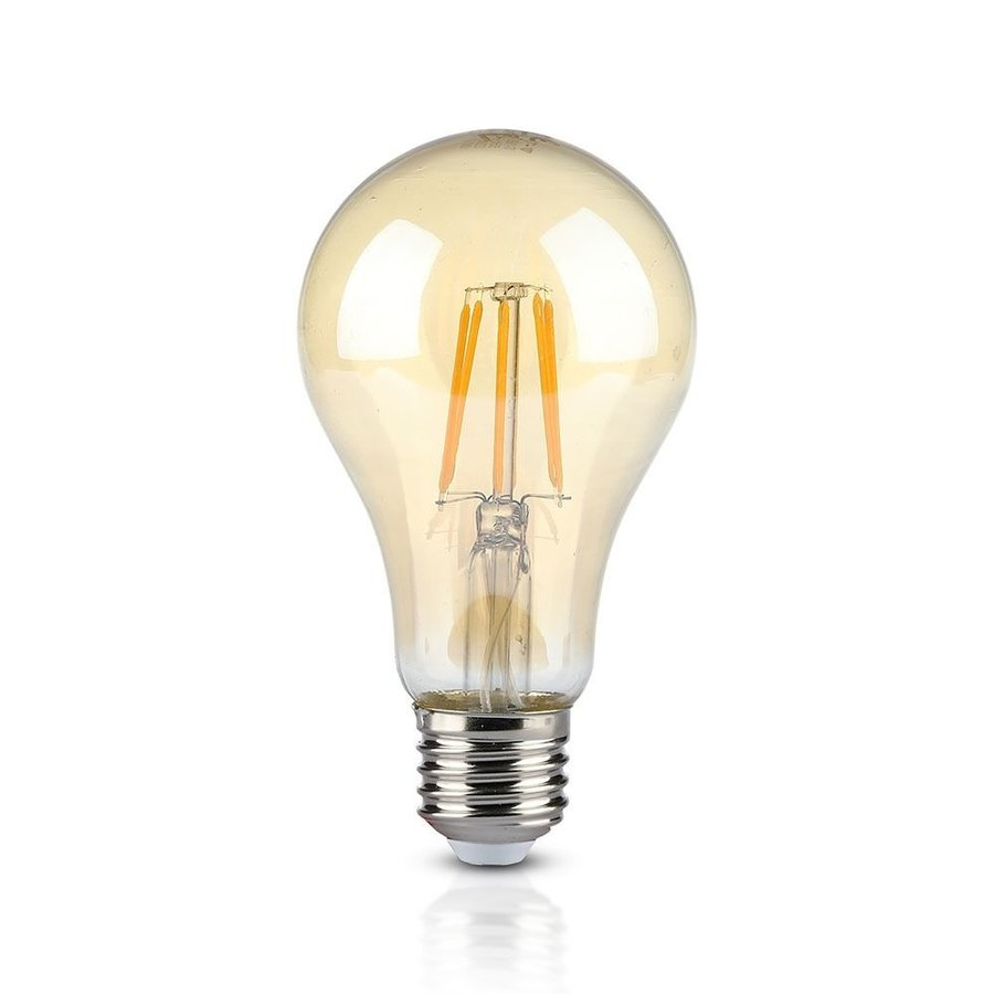 LED Lamp Amber glas 10 Watt E27 A67 2200K