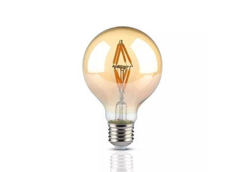 V-TAC LED Lamp Amber glas 4 Watt E27 G80 2200K