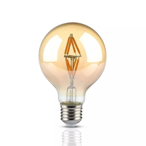 V-TAC LED Bulb Amber glass 4 Watt E27 G80 2200K