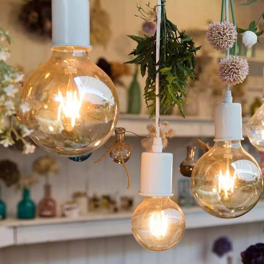 LED Lamp Amber glas 4 Watt E27 G80 2200K