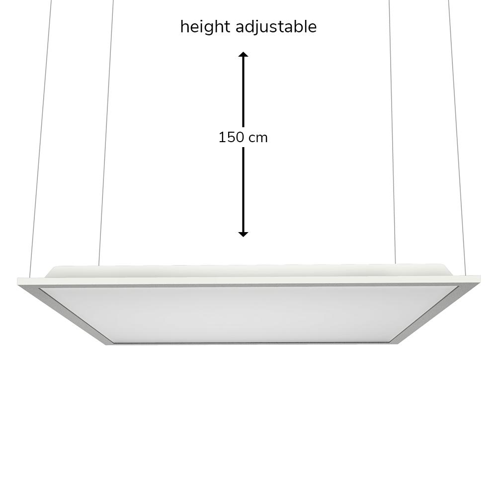 LED Paneel ophangsysteem voor 60x60 en 30x120 LED Panelen (125lm/W)