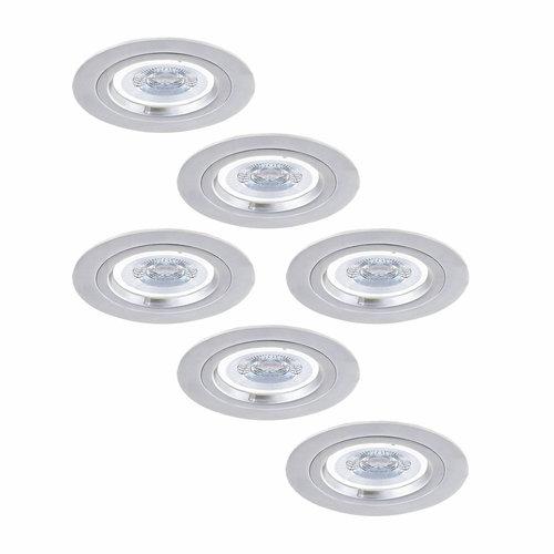 HOFTRONIC™ Set van 6 stuks dimbare LED inbouwspots Austin 5 Watt 6400K spot IP20