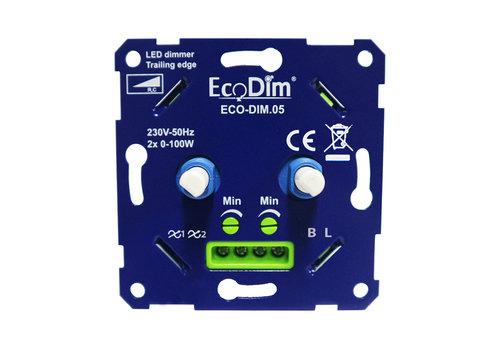Ecodim EcoDim ECO-DIM. 05 led duo dimmer trailing edge 2x100W maximum