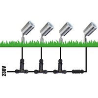 9x Smart WiFi LED Prikspot Nancy RVS RGBWW IP44 vochtbestendig 3 jaar garantie