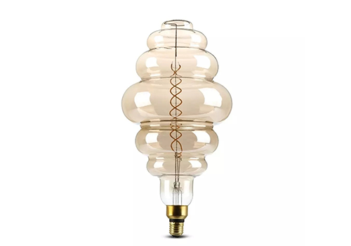 LED Lamp Smoky dubbele gloeidraad 8 Watt E27 2000K dimbaar
