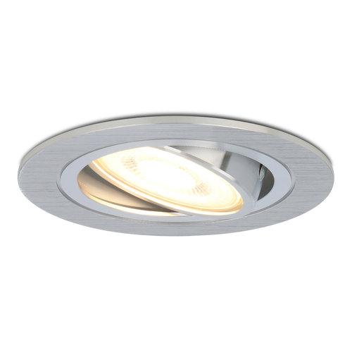 HOFTRONIC™ Dimbare LED inbouwspot Chandler 4.2 Watt 2700K warm wit Kantelbaar