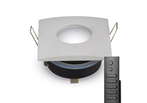 HOFTRONIC™ Set of 6 dimmable LED downlights Garland 4.2 Watt spot IP44  waterproof incl. remote control
