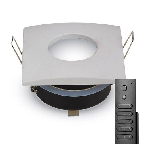 HOFTRONIC™ Set of 6 dimmable LED downlights Garland 4.2 Watt spot IP44  waterproof incl. remote control