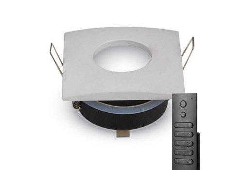 HOFTRONIC™ Set of 8 dimmable LED downlights Garland 4.2 Watt spot IP44  waterproof incl. remote control