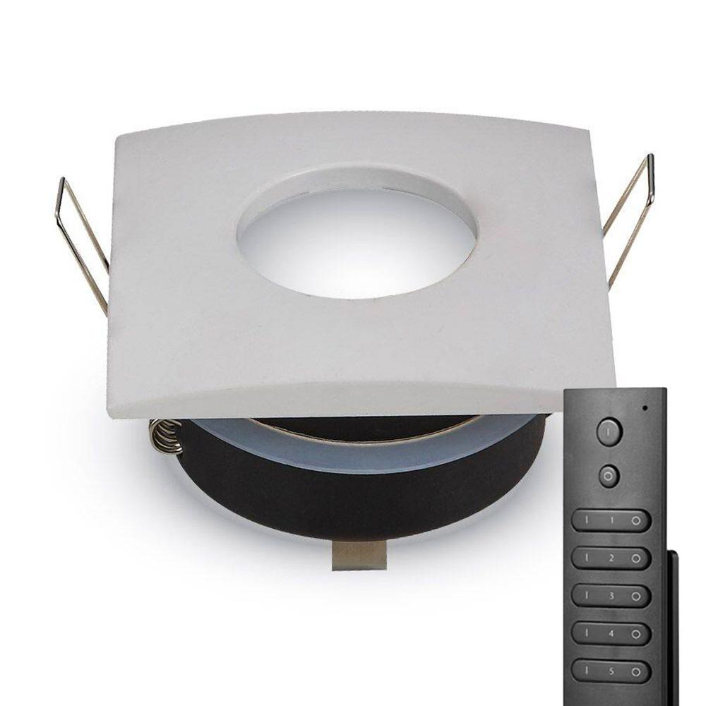 Set van 8 stuks dimbare LED inbouwspots Garland 5 Watt spot IP44 vochtbestendig incl. afstandsbedien