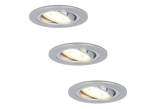 HOFTRONIC™ Set van 3 stuks dimbare LED inbouwspots Chandler met 5 Watt spot kantelbaar