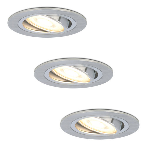 HOFTRONIC™ Set of 3 dimmable LED downlights Chandler 5 Watt spot tiltable