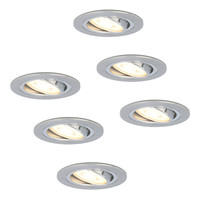 Set of 6 dimmable LED downlights Chandler 4.2 Watt spot tiltable