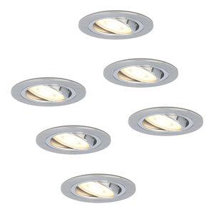 HOFTRONIC™ Set of 6 dimmable LED downlights Chandler 4.2 Watt spot tiltable