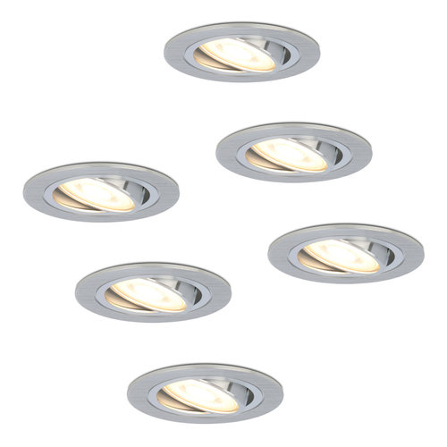HOFTRONIC™ Set of 6 dimmable LED downlights Chandler 5 Watt spot tiltable