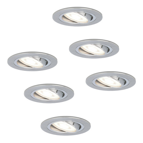 HOFTRONIC™ Set of 6 dimmable LED downlights Chandler 5 Watt 6000K spot tiltable