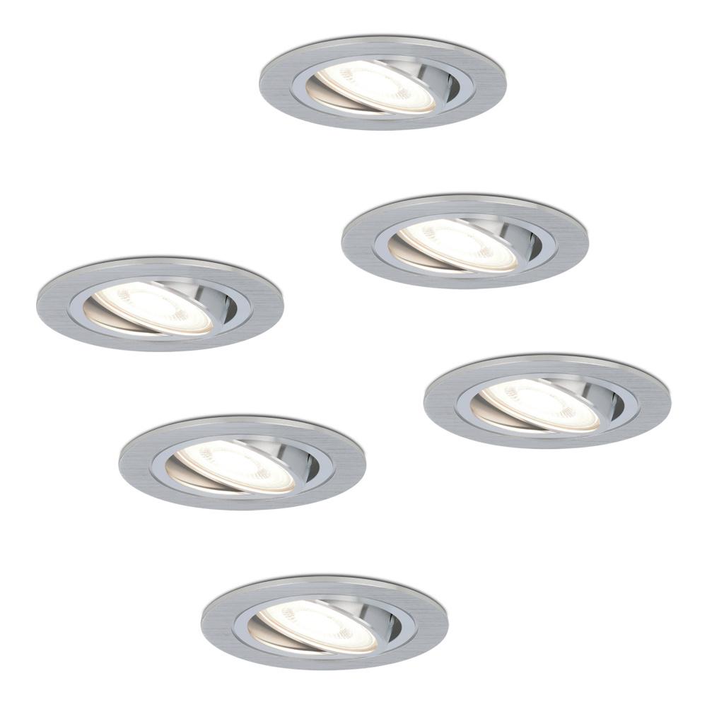 Set van 6 stuks dimbare LED inbouwspots Chandler met 5 Watt 6000K spot kantelbaar