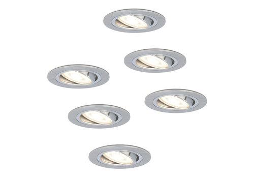 HOFTRONIC™ Set of 6 dimmable LED downlights Chandler 5 Watt 4000K spot tiltable