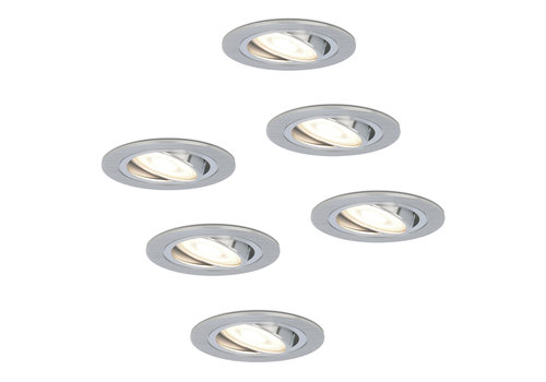 HOFTRONIC™ Set van 6 stuks dimbare LED inbouwspots Chandler met 5 Watt 4000K spot kantelbaar