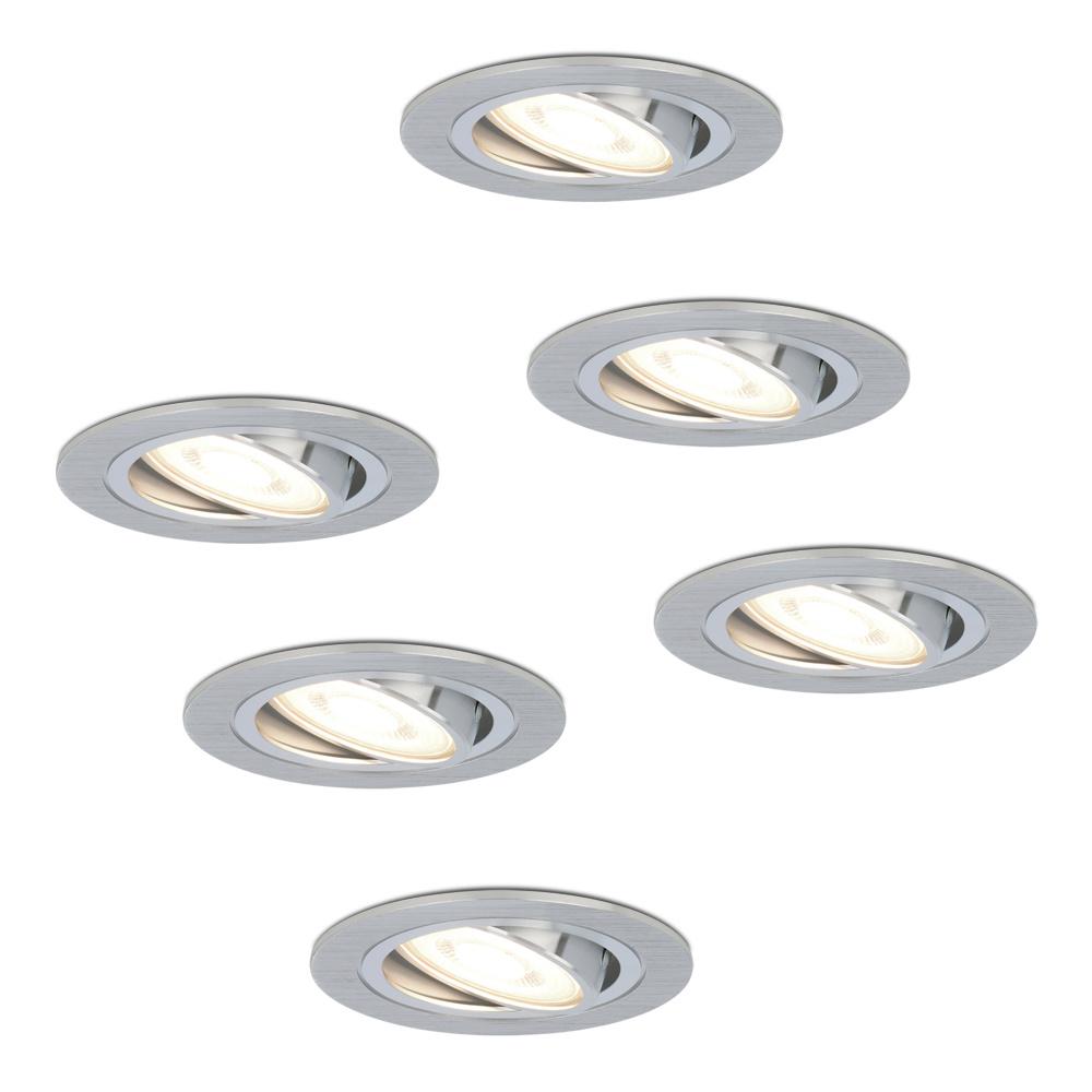 Set van 6 stuks dimbare LED inbouwspots Chandler met 5 Watt 4000K spot kantelbaar
