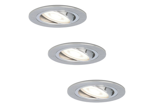 HOFTRONIC™ Set of 3 dimmable LED downlights Chandler 5 Watt 6000K spot tiltable