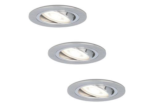 HOFTRONIC™ Set van 3 stuks dimbare LED inbouwspots Chandler met 5 Watt 6400K spot kantelbaar