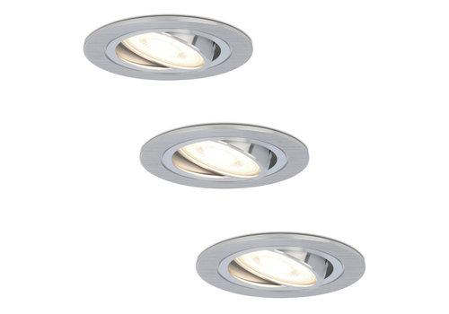 HOFTRONIC™ Set of 3 dimmable LED downlights Chandler 5 Watt 4000K spot tiltable