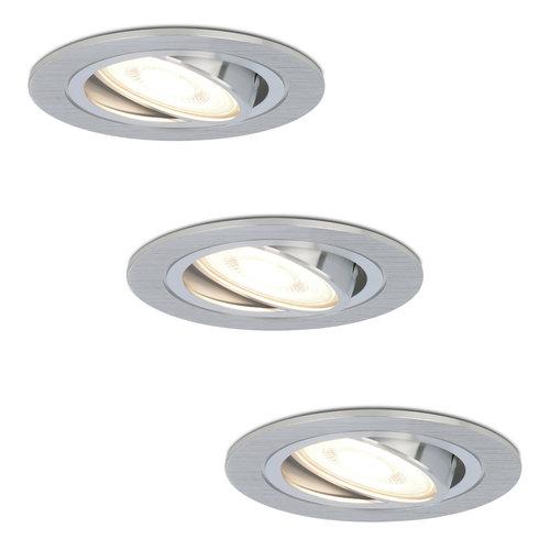 HOFTRONIC™ Set van 3 stuks dimbare LED inbouwspots Chandler met 5 Watt 4000K spot kantelbaar