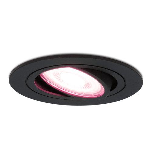 Homeylux Smart WiFi LED recessed spotlight black Miro RGBWW tiltable IP20