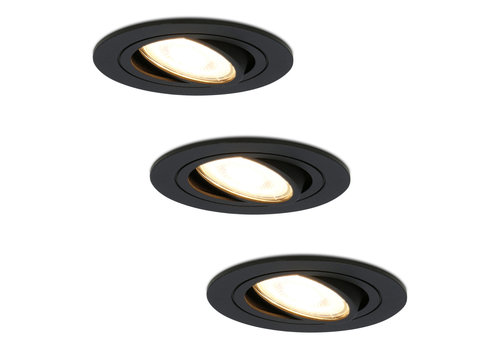 HOFTRONIC™ Set of 3 dimmable LED downlights Miro 4.2 Watt 2700K warm white tiltable