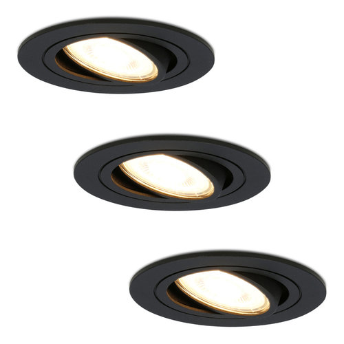 HOFTRONIC™ Set of 3 dimmable LED downlights Miro 5 Watt 2700K warm white tiltable