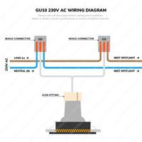 Set van 3 stuks smart WiFi LED inbouwspots Pittsburg dimbaar RGBWW kantelbaar wit IP20