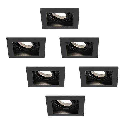 HOFTRONIC™ Set of 6 dimmable LED downlight Durham 5 Watt 4000K black tiltable  IP20