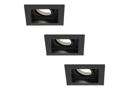 HOFTRONIC™ Set of 3 dimmable LED downlight Durham 5 Watt 4000K black tiltable  IP20