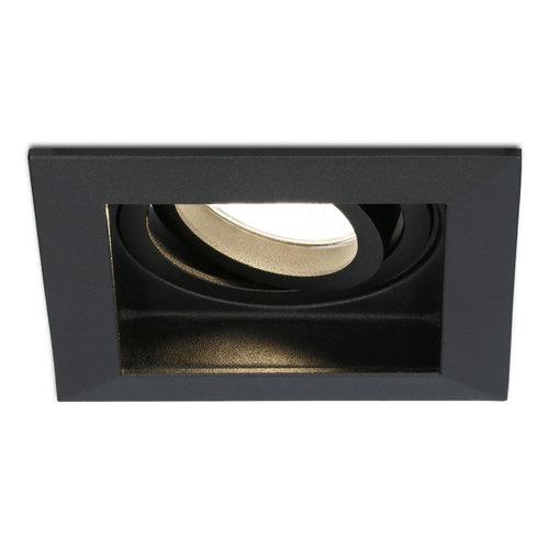 HOFTRONIC™ Dimbare LED inbouwspot Durham 5 Watt 2700K zwart kantelbaar IP20