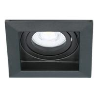 Dimbare LED inbouwspot Durham 5 Watt 2700K zwart kantelbaar IP20