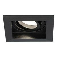 Dimbare LED inbouwspot Durham 5 Watt 4000K zwart kantelbaar IP20