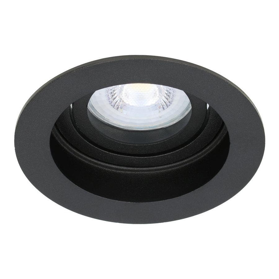 Dimbare LED inbouwspot Laredo 5 Watt 4000K zwart kantelbaar IP20